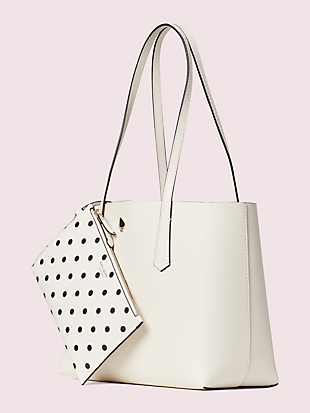 molly cabana dot pop small tote by kate spade new york hover view