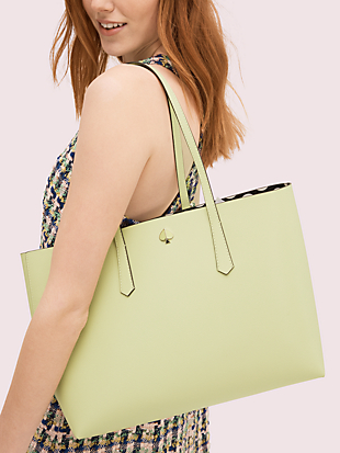 molly bikini dot pop large tote by kate spade new york hover view
