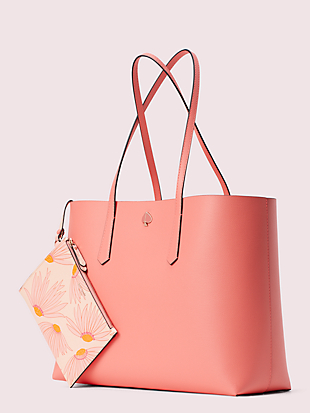 molly falling flower pop large tote by kate spade new york non-hover view