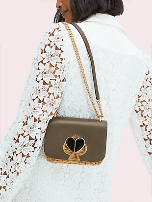 nicola wicker twistlock small convertible chain shoulder bag by kate spade new york hover view