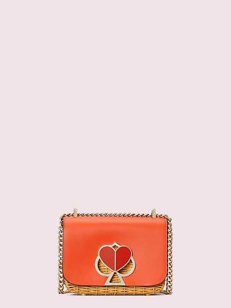 nicola wicker twistlock small convertible chain shoulder bag, tamarillo, large by kate spade new york
