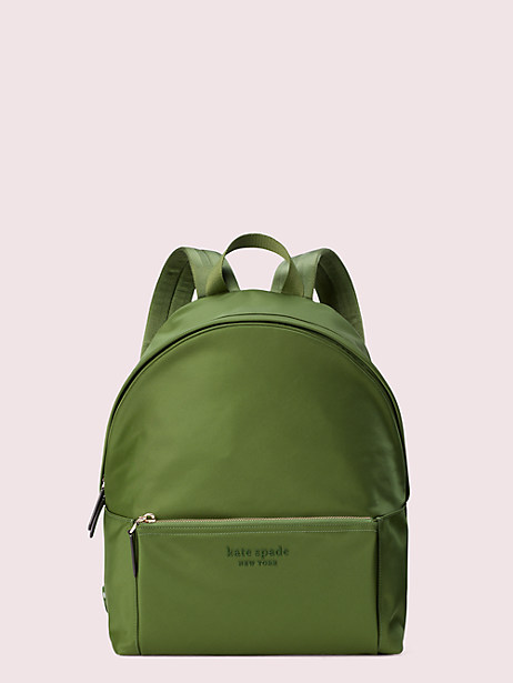 nylon city pack large backpack, olive, large by kate spade new york