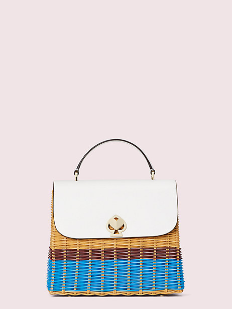 romy wicker medium top-handle bag by kate spade new york