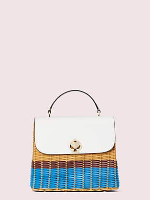 romy wicker medium top-handle bag by kate spade new york non-hover view