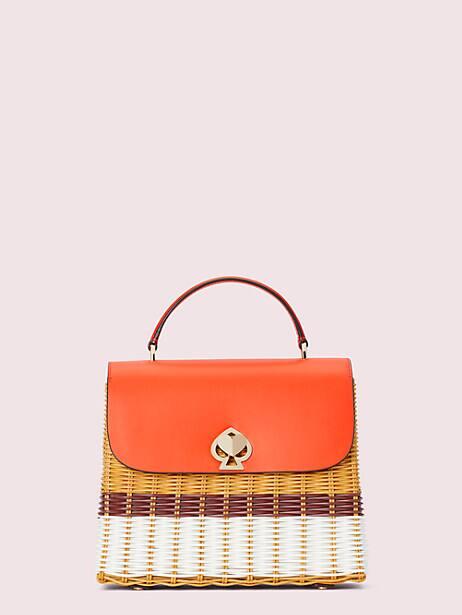 romy wicker medium top-handle bag by kate spade new york