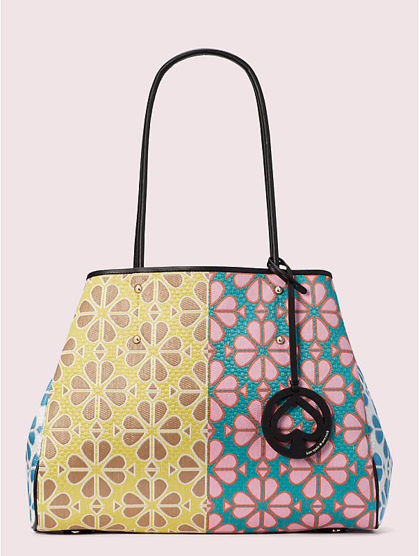 everything spade flower large tote, , rr_large