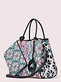 everything spade flower medium tote, , s7productThumbnail