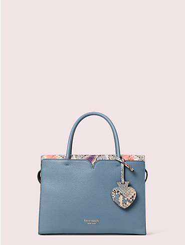 spencer snake-embossed medium satchel, , rr_productgrid