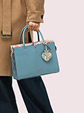 spencer snake-embossed medium satchel, , s7productThumbnail