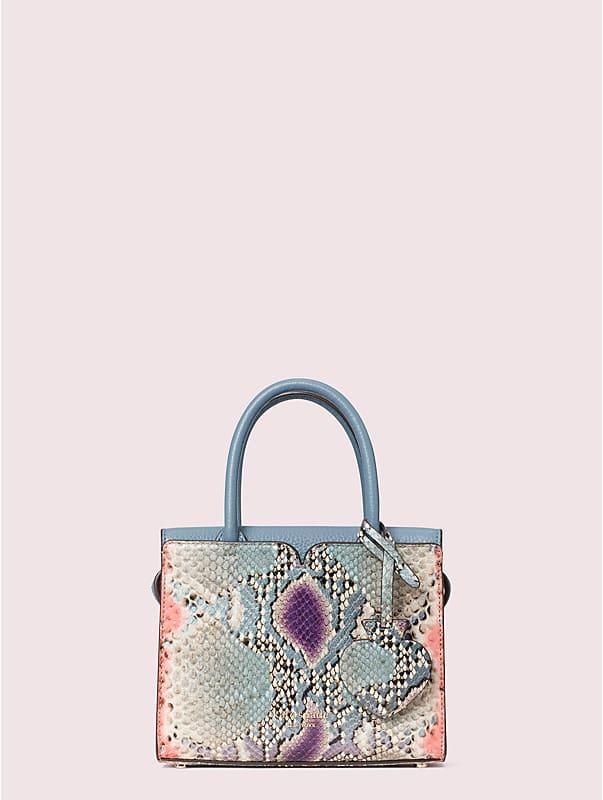 spencer snake-embossed mini satchel, , rr_large