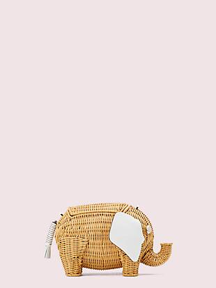 tiny wicker large elephant crossbody by kate spade new york non-hover view