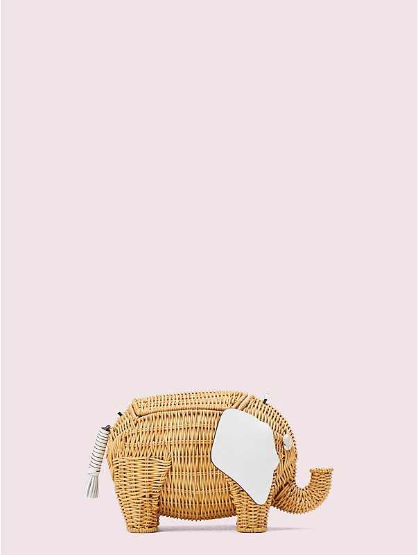tiny wicker large elephant crossbody, , rr_large