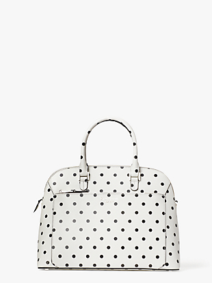 louise cabana dot medium dome satchel by kate spade new york non-hover view