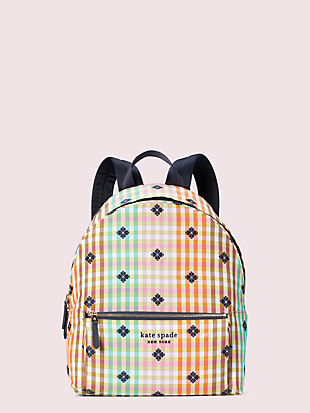the bella plaid city pack large backpack by kate spade new york non-hover view