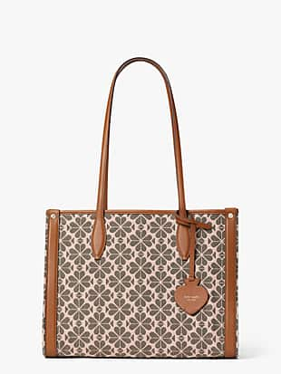 spade flower jacquard market medium tote by kate spade new york non-hover view