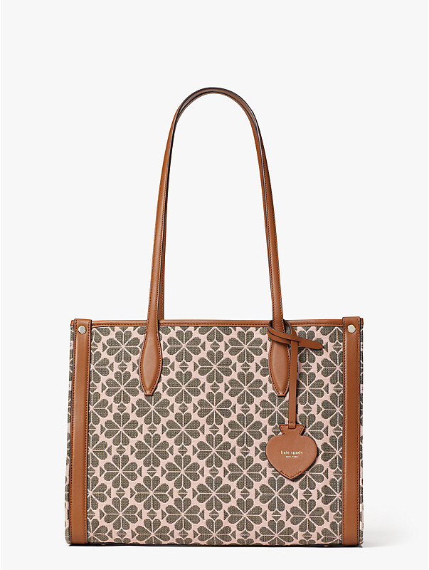 spade flower jacquard market medium tote, , rr_large