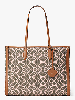 market logo-jacquard large tote by kate spade new york non-hover view