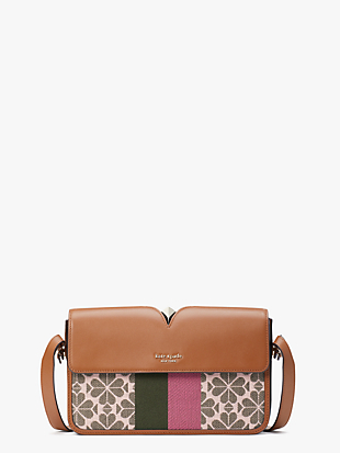 spade flower jacquard mystery stripe medium shoulder bag by kate spade new york non-hover view