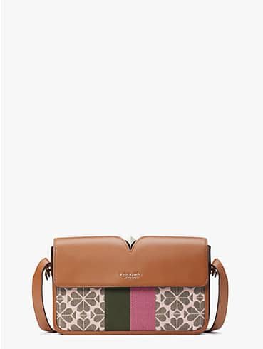 spade flower jacquard mystery stripe medium shoulder bag, , rr_productgrid