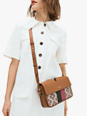 spade flower jacquard mystery stripe medium shoulder bag, , s7productThumbnail