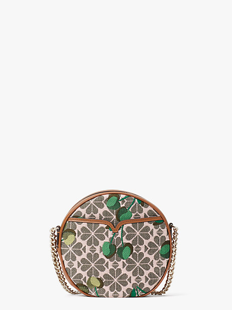spade flower jacquard drum cherry medium crossbody by kate spade new york