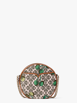 spade flower jacquard drum cherry medium crossbody by kate spade new york non-hover view