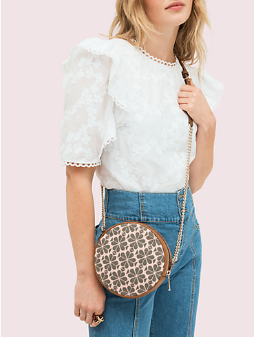 spade flower jacquard drum medium crossbody, , rr_productgrid