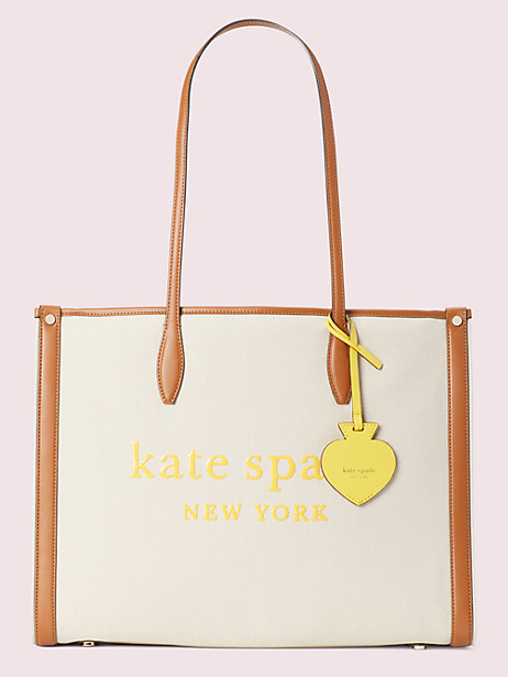 market canvas large tote by kate spade new york