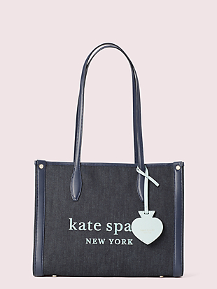 market denim medium tote by kate spade new york non-hover view