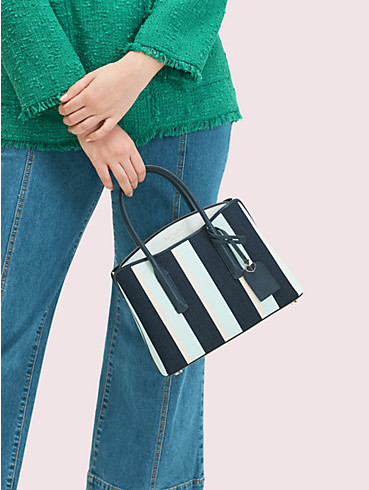 margaux canvas stripe medium satchel, , rr_productgrid