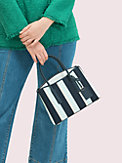 margaux canvas stripe medium satchel, , s7productThumbnail