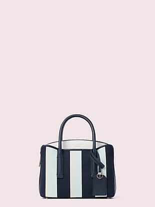 margaux canvas stripe mini satchel by kate spade new york non-hover view