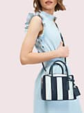 margaux canvas stripe mini satchel, , s7productThumbnail