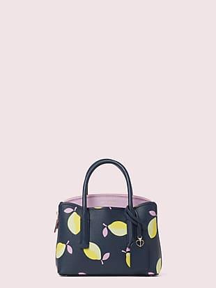 케이트 스페이드 사첼백 Kate Spade margaux lemons mini satchel,blue multi