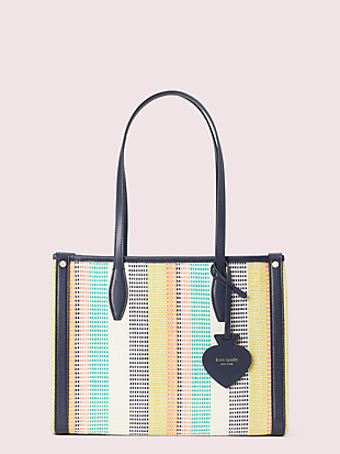 market woven stripe medium tote by kate spade new york non-hover view