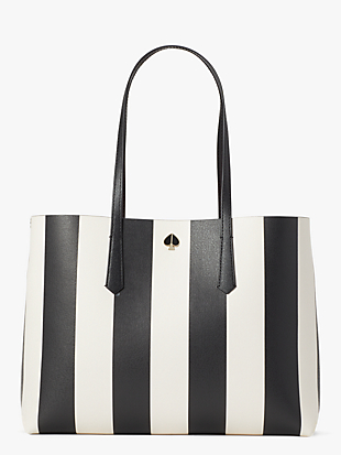 molly stripe large tote by kate spade new york non-hover view