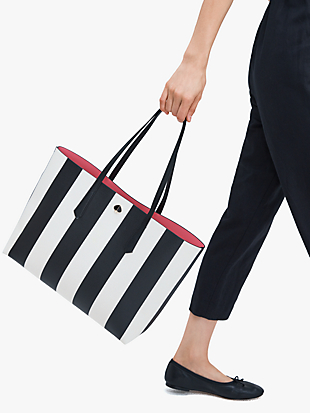 molly stripe large tote by kate spade new york hover view