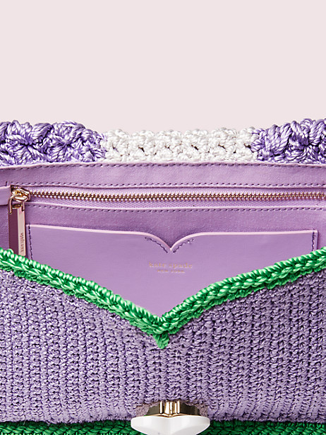 Nicola knit twistlock medium shoulder bag | Kate Spade New York
