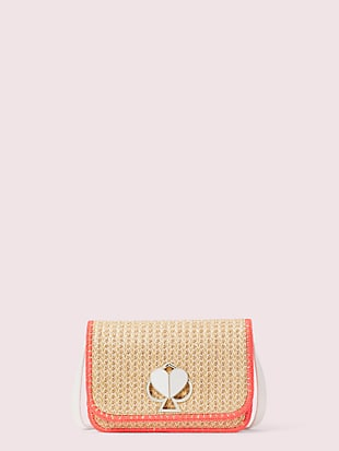 nicola raffia twistlock medium shoulder bag by kate spade new york non-hover view