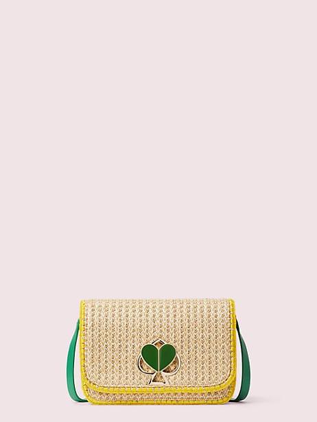 nicola raffia twistlock medium shoulder bag by kate spade new york