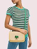 nicola raffia twistlock medium shoulder bag, , s7productThumbnail
