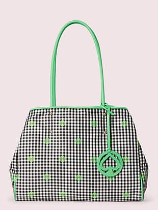 everything gingham large tote by kate spade new york non-hover view