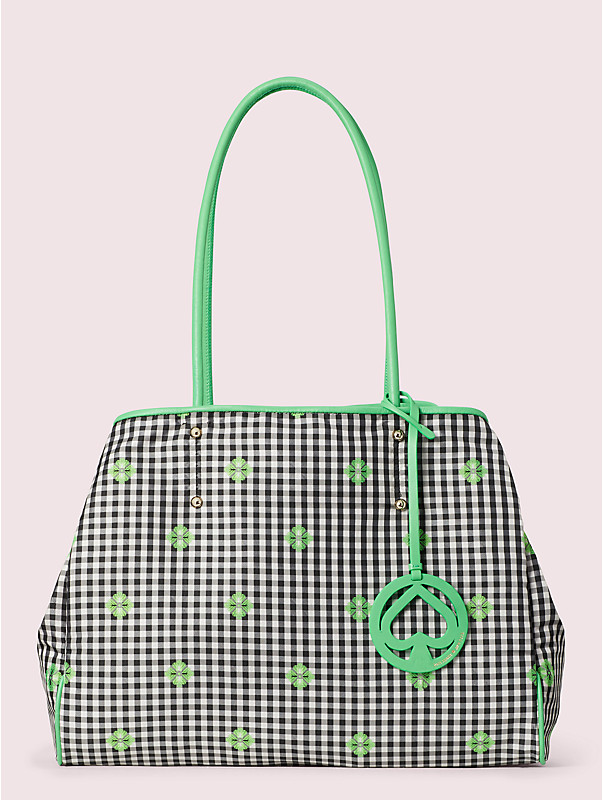 everything gingham large tote, , rr_large