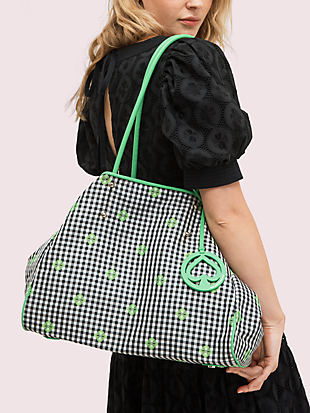 everything gingham large tote by kate spade new york hover view