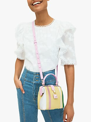 remedy stripe small top-handle bag by kate spade new york hover view