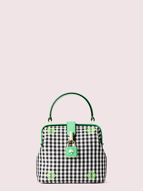 remedy gingham small top-handle bag by kate spade new york