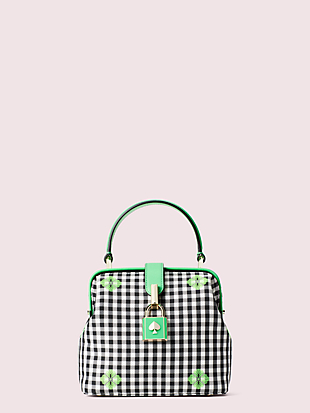 remedy gingham small top-handle bag by kate spade new york non-hover view