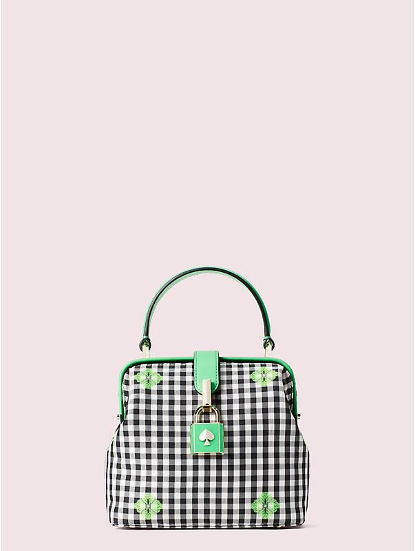 remedy gingham small top-handle bag, , rr_large