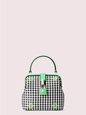 remedy gingham small top-handle bag, , rr_productgrid