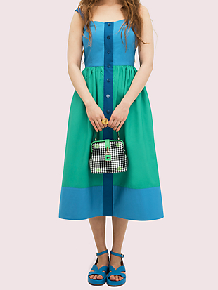 remedy gingham small top-handle bag by kate spade new york hover view